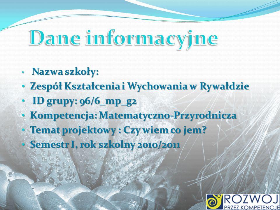 Dane informacyjne Zespół Kształcenia i Wychowania w Rywałdzie