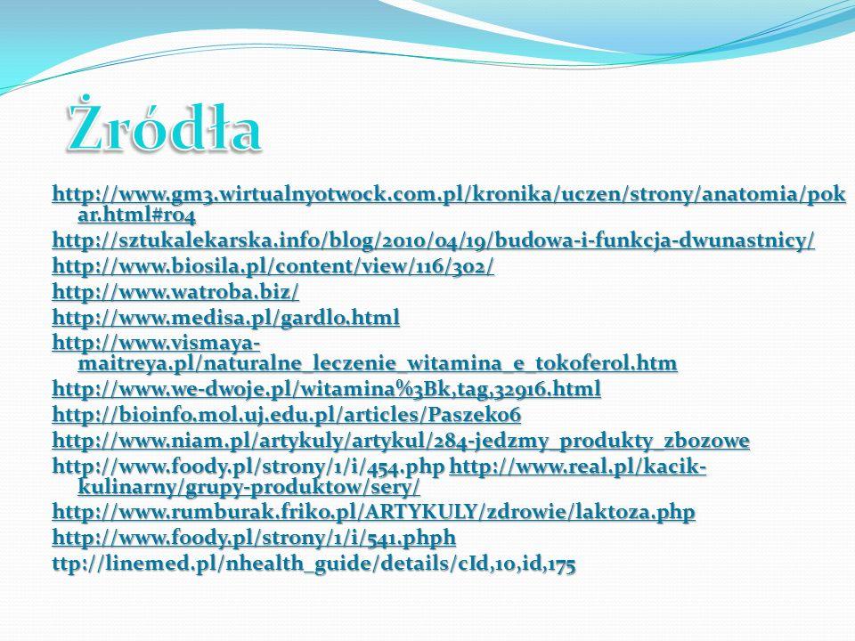 Żródła http://www.gm3.wirtualnyotwock.com.pl/kronika/uczen/strony/anatomia/pokar.html#ro4.