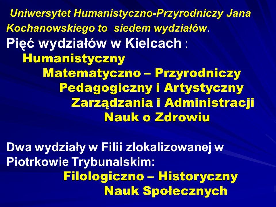 Pięć wydziałów w Kielcach :