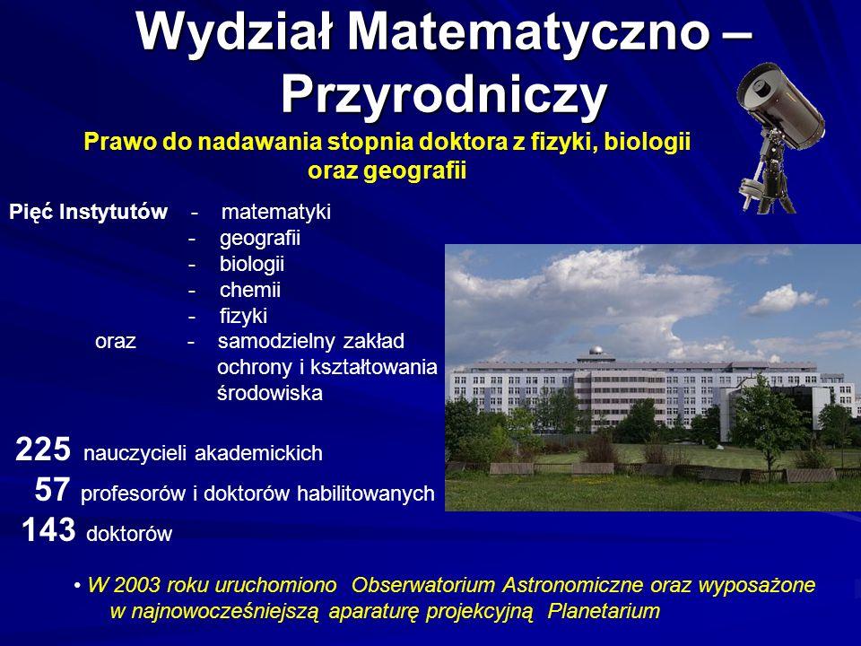 Wydział Matematyczno – Przyrodniczy
