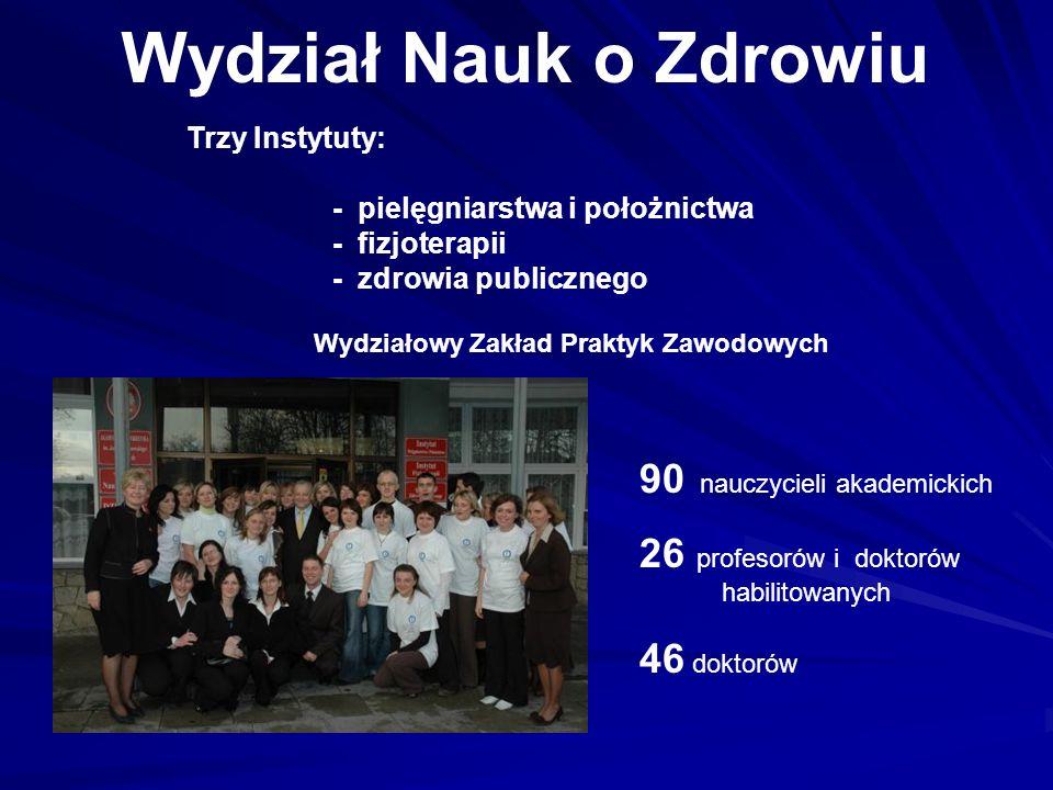 Wydział Nauk o Zdrowiu 90 nauczycieli akademickich