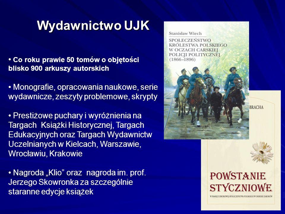 Wydawnictwo UJK Co roku prawie 50 tomów o objętości blisko 900 arkuszy autorskich.