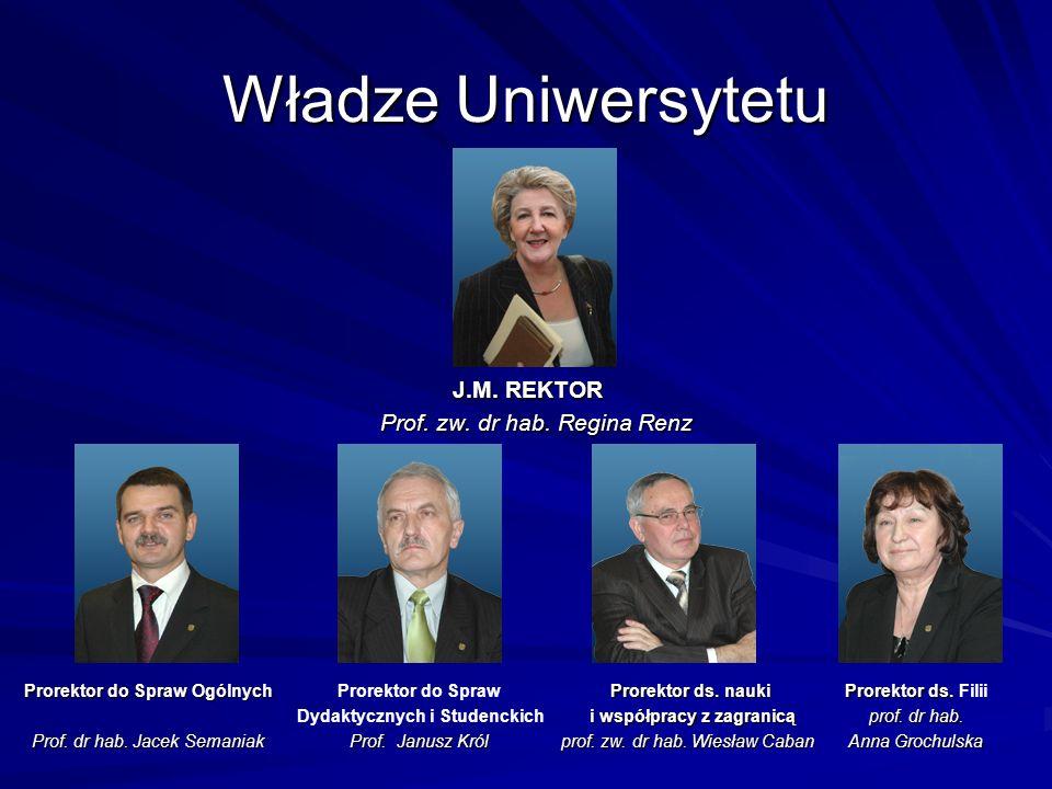 Władze Uniwersytetu J.M. REKTOR Prof. zw. dr hab. Regina Renz