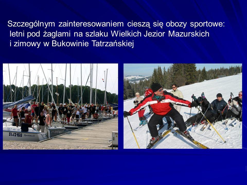 Szczególnym zainteresowaniem cieszą się obozy sportowe: