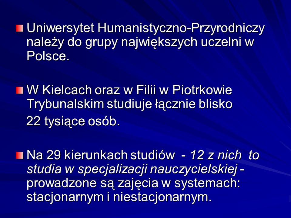 Uniwersytet Humanistyczno-Przyrodniczy należy do grupy największych uczelni w Polsce.