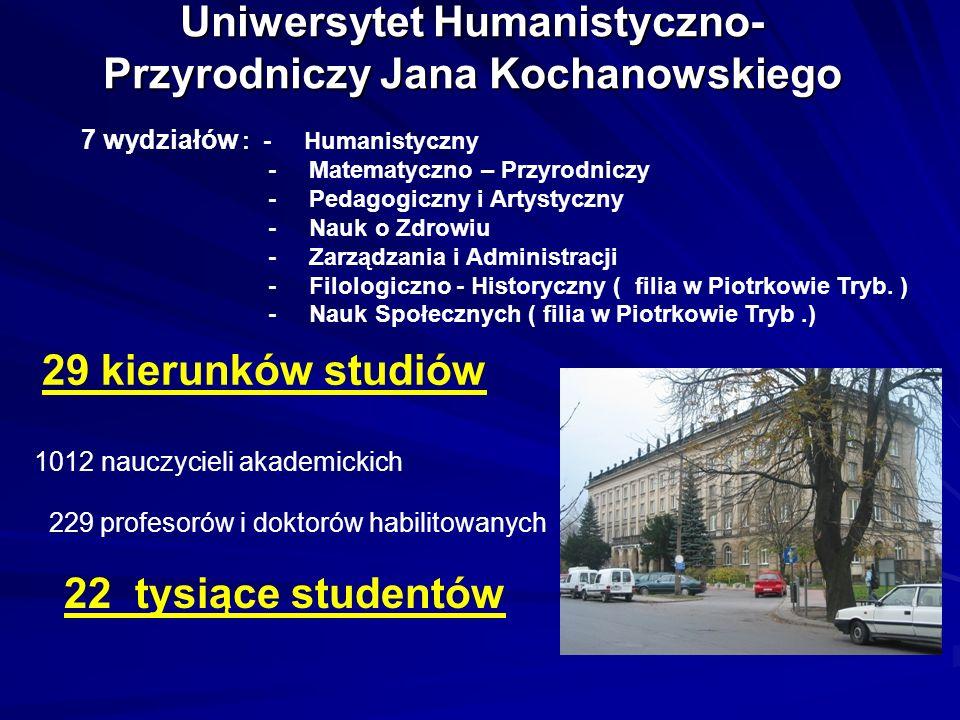 Uniwersytet Humanistyczno-Przyrodniczy Jana Kochanowskiego