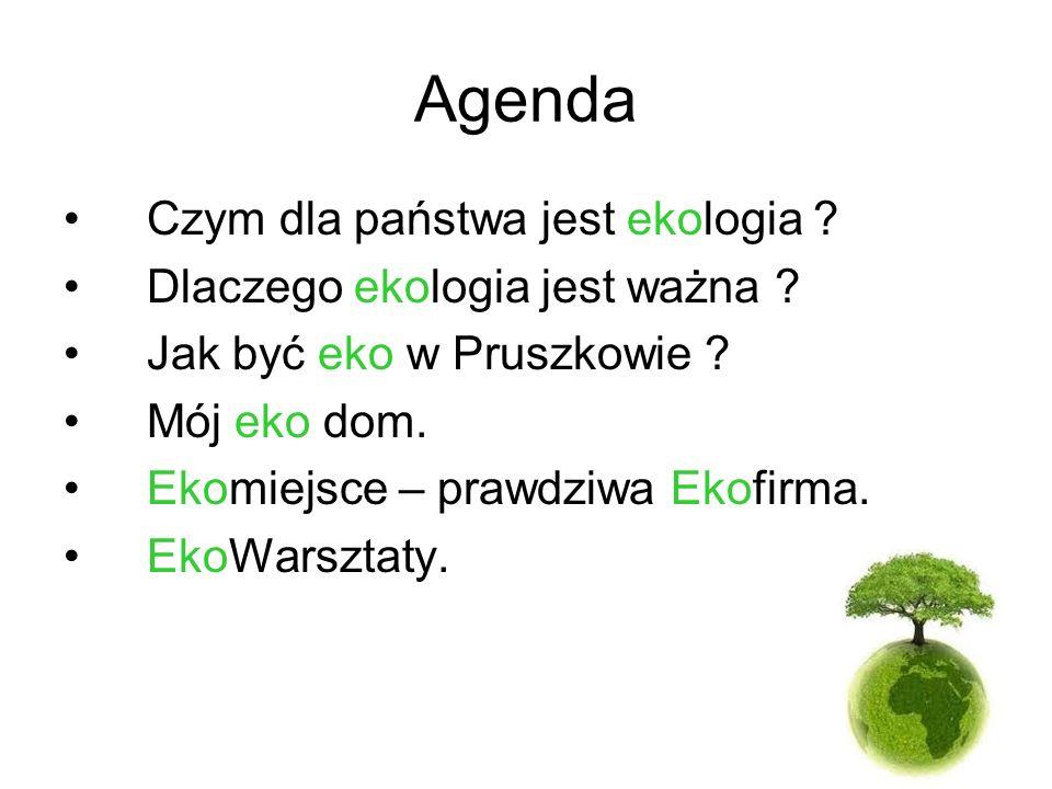 Agenda Czym dla państwa jest ekologia Dlaczego ekologia jest ważna