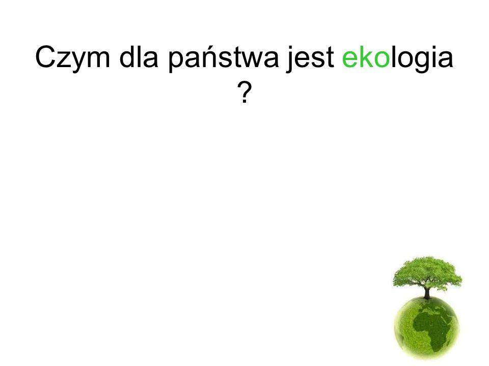 Czym dla państwa jest ekologia