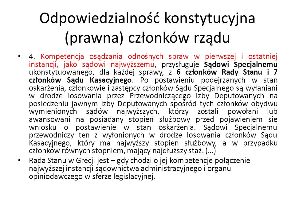 Odpowiedzialność konstytucyjna (prawna) członków rządu