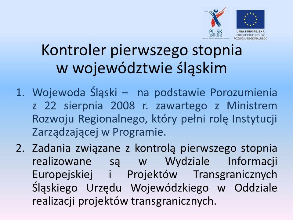 Kontroler pierwszego stopnia w województwie śląskim