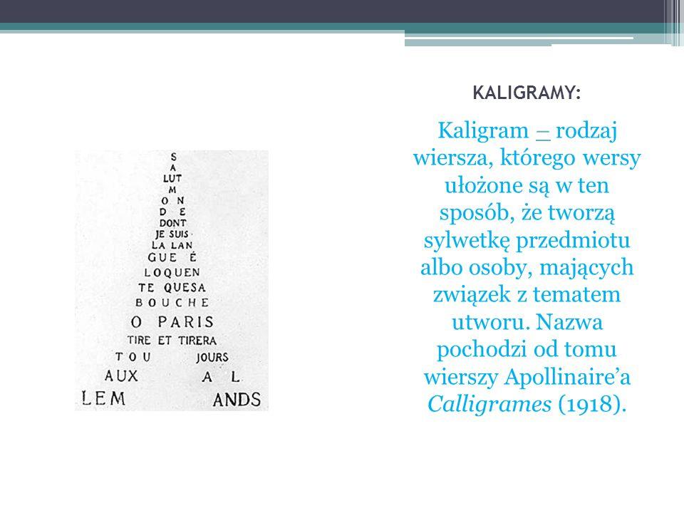 KALIGRAMY: