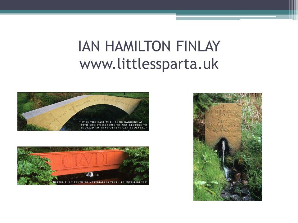 IAN HAMILTON FINLAY www.littlessparta.uk