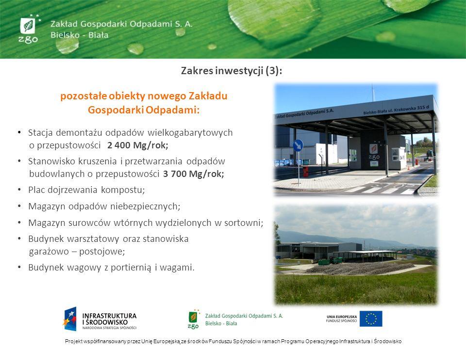 pozostałe obiekty nowego Zakładu Gospodarki Odpadami: