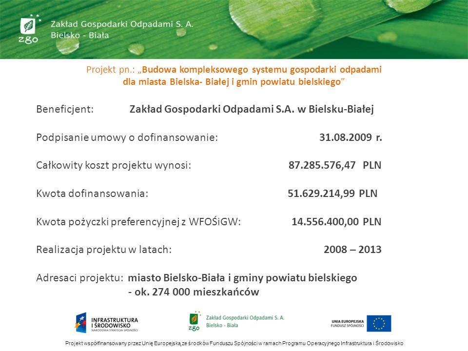 Beneficjent: Zakład Gospodarki Odpadami S.A. w Bielsku-Białej
