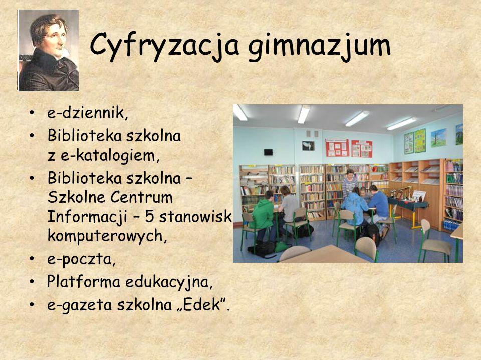 Cyfryzacja gimnazjum e-dziennik, Biblioteka szkolna z e-katalogiem,