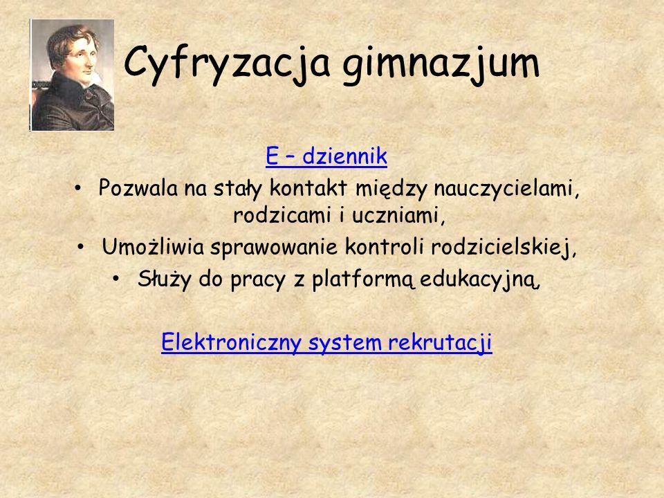 Cyfryzacja gimnazjum E – dziennik