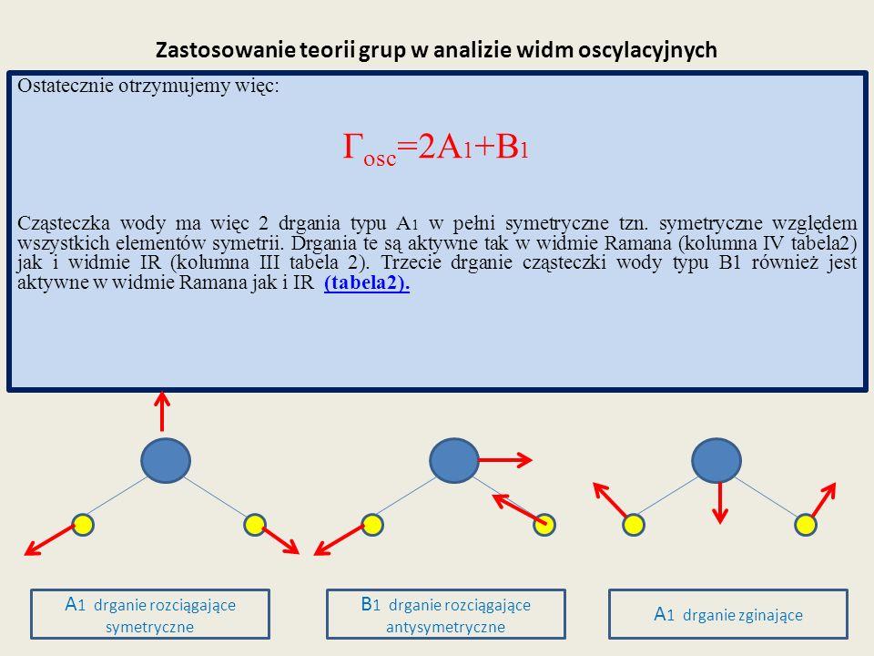 Zastosowanie teorii grup w analizie widm oscylacyjnych