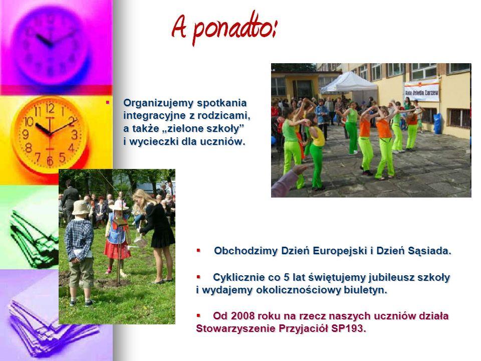 """Organizujemy spotkania integracyjne z rodzicami, a także """"zielone szkoły i wycieczki dla uczniów."""