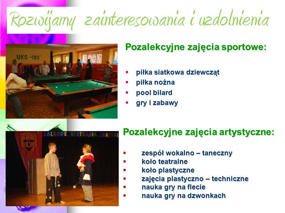 Pozalekcyjne zajęcia sportowe: