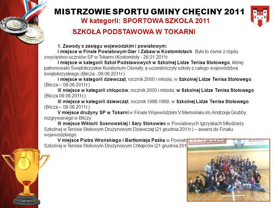 W kategorii: SPORTOWA SZKOŁA 2011