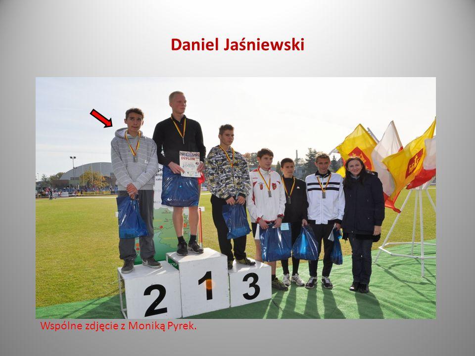 Daniel Jaśniewski Wspólne zdjęcie z Moniką Pyrek.