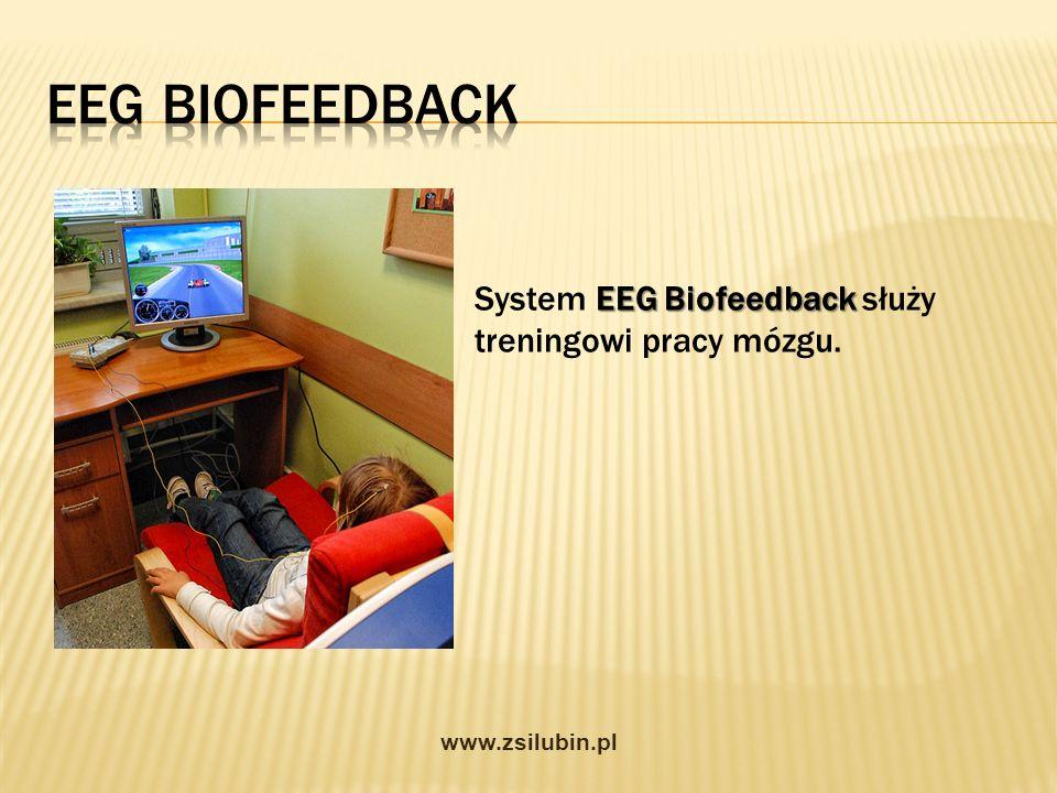 EEG Biofeedback System EEG Biofeedback służy treningowi pracy mózgu.