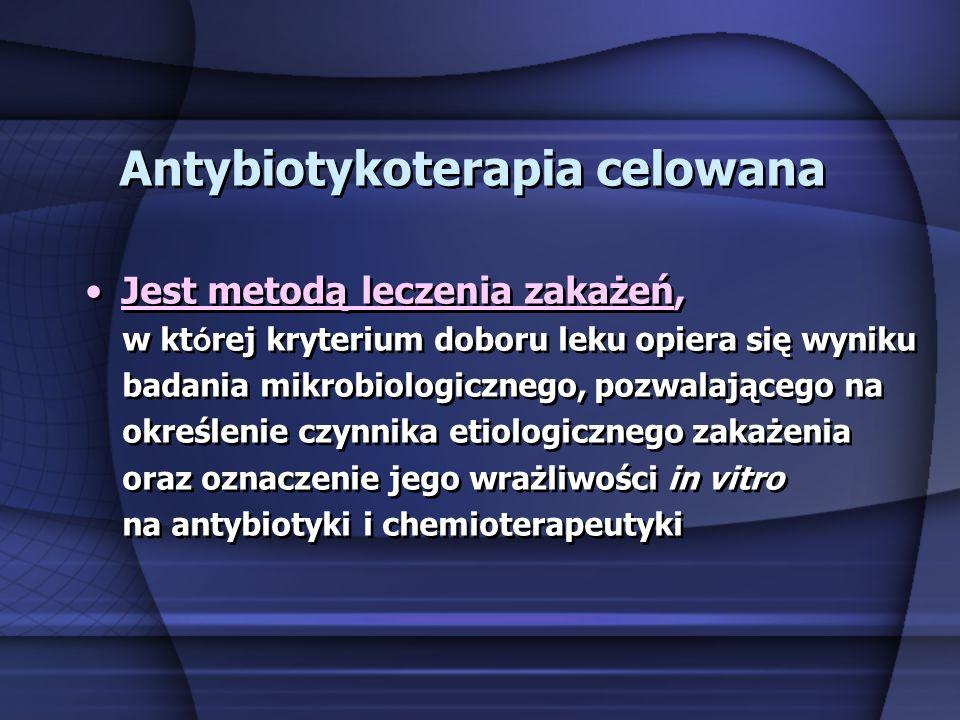 Antybiotykoterapia celowana
