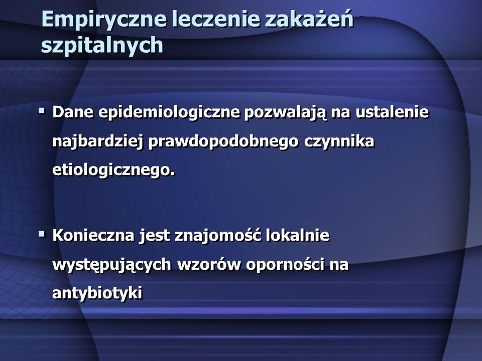 Empiryczne leczenie zakażeń szpitalnych