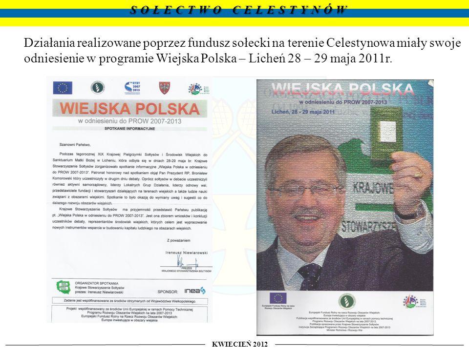 odniesienie w programie Wiejska Polska – Licheń 28 – 29 maja 2011r.
