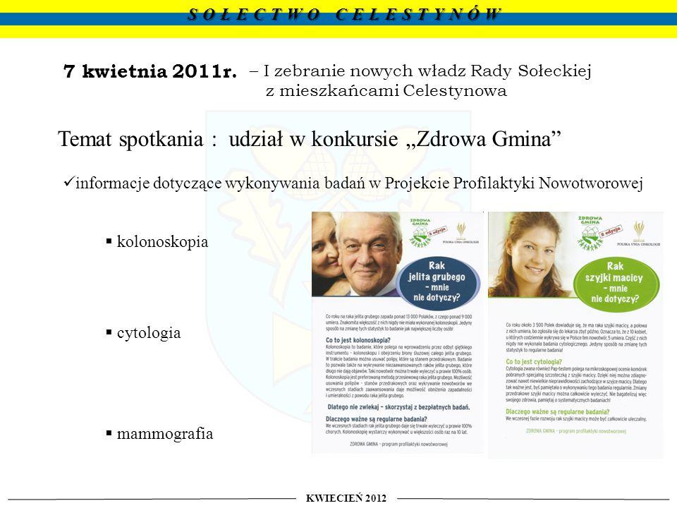 """Temat spotkania : udział w konkursie """"Zdrowa Gmina"""