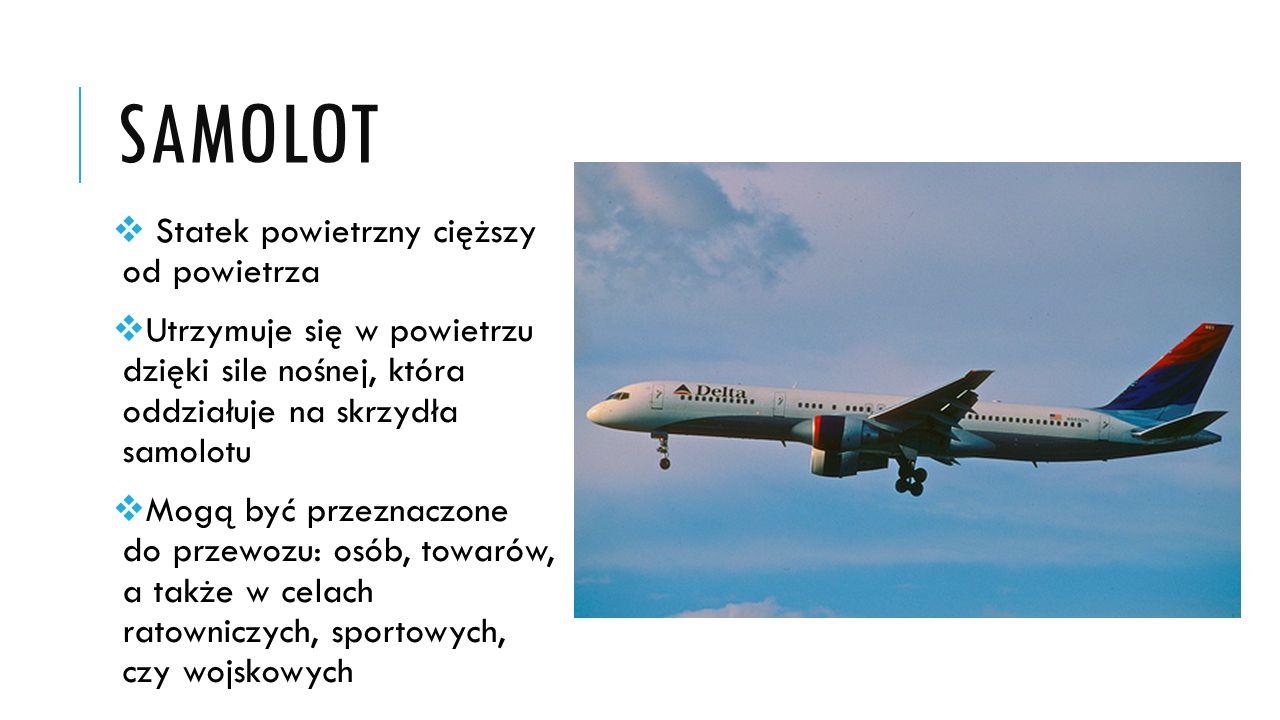 samolot Statek powietrzny cięższy od powietrza