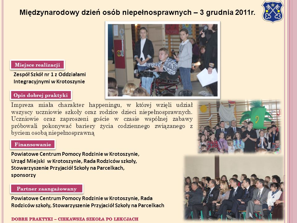 Międzynarodowy dzień osób niepełnosprawnych – 3 grudnia 2011r.