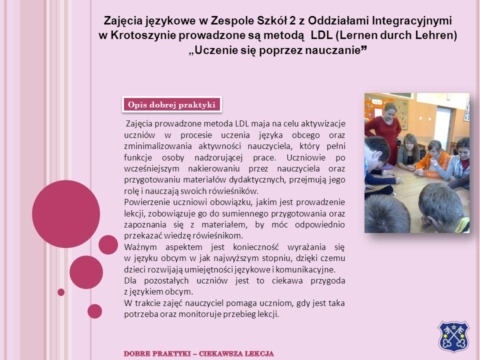 Zajęcia językowe w Zespole Szkół 2 z Oddziałami Integracyjnymi