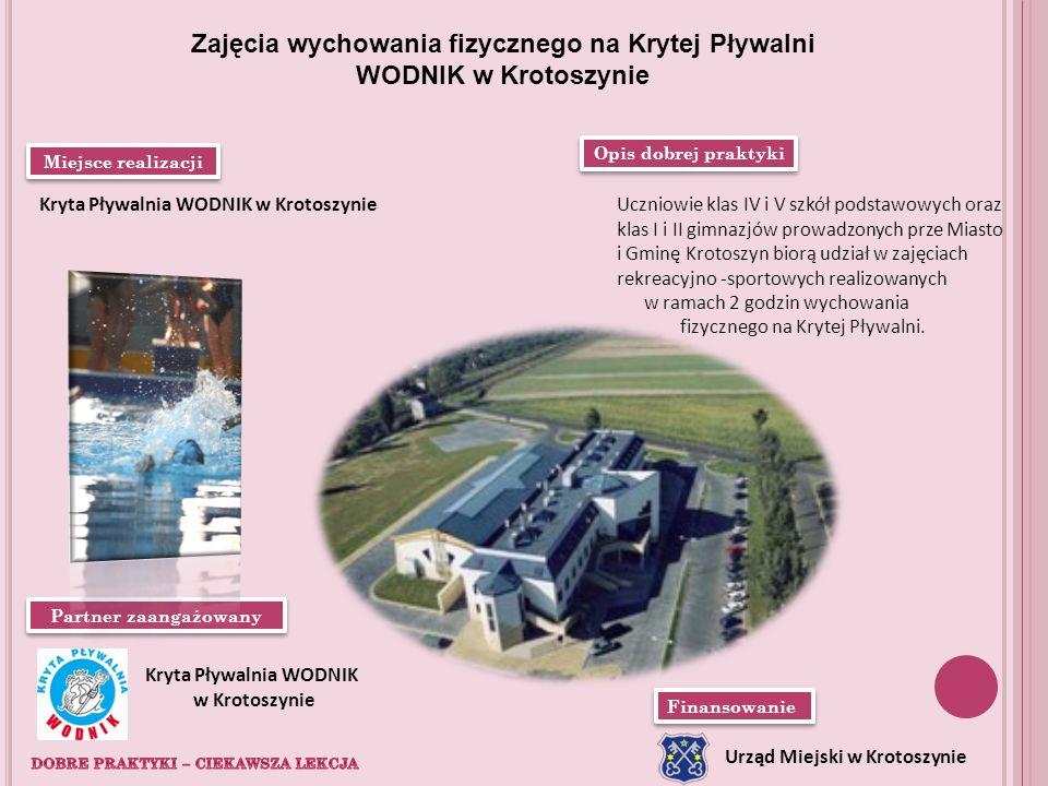 Zajęcia wychowania fizycznego na Krytej Pływalni WODNIK w Krotoszynie