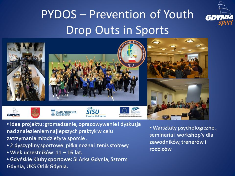 PYDOS – Prevention of Youth Drop Outs in Sports