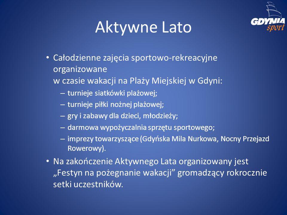 Aktywne Lato Całodzienne zajęcia sportowo-rekreacyjne organizowane w czasie wakacji na Plaży Miejskiej w Gdyni: