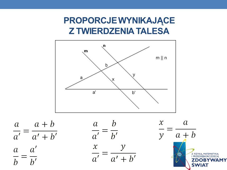 Proporcje wynikające z twierdzenia talesa