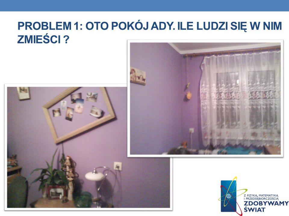 PROBLEM 1: Oto pokój ady. Ile ludzi się w nim zmieści