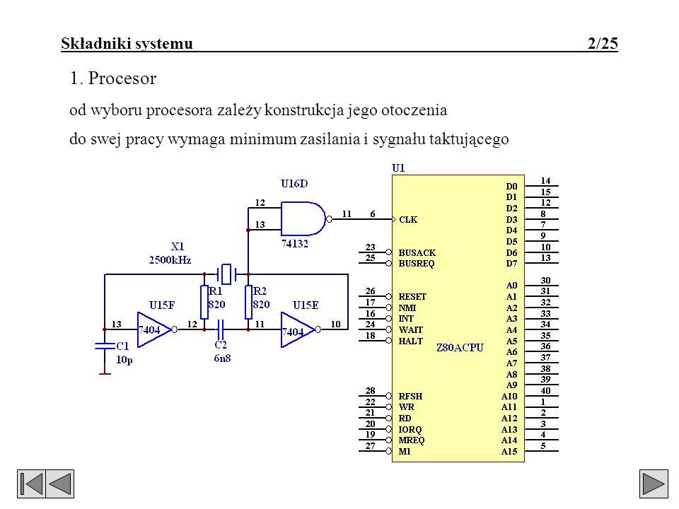 1. Procesor Składniki systemu 2/25