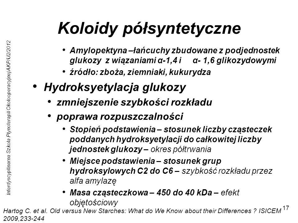 Koloidy półsyntetyczne