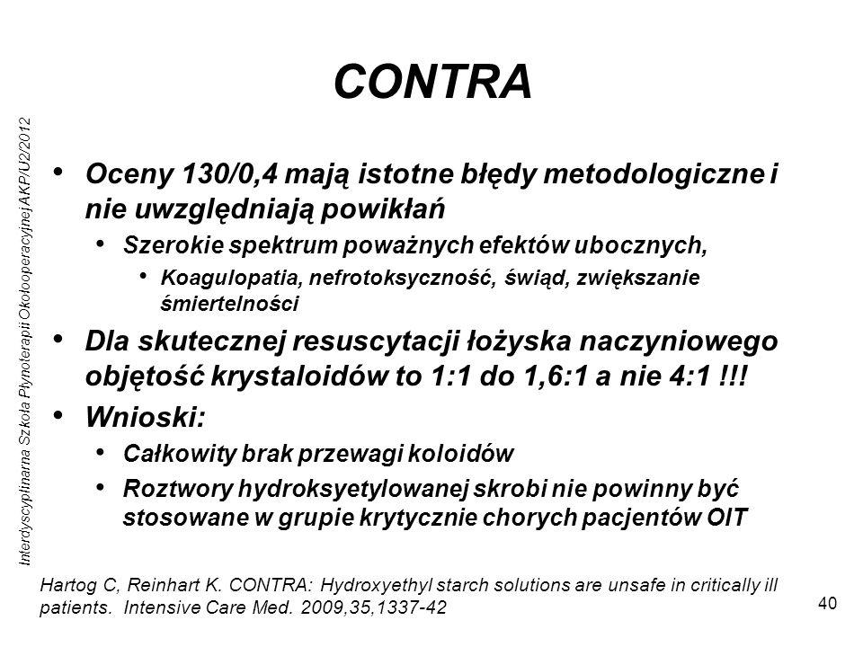 CONTRA Oceny 130/0,4 mają istotne błędy metodologiczne i nie uwzględniają powikłań. Szerokie spektrum poważnych efektów ubocznych,