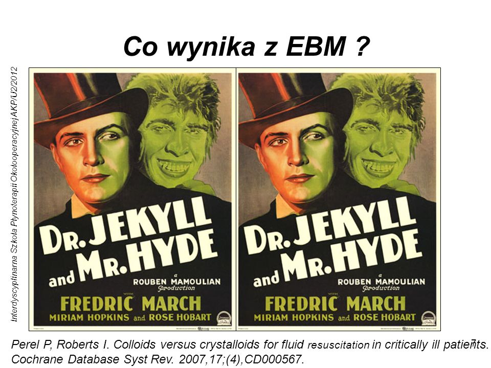 Co wynika z EBM Bazy danych: Medline, Central, Embase