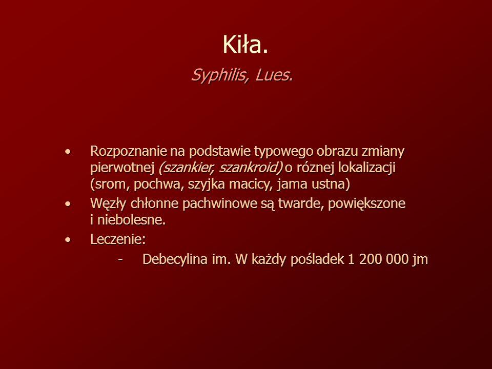 Kiła. Syphilis, Lues.
