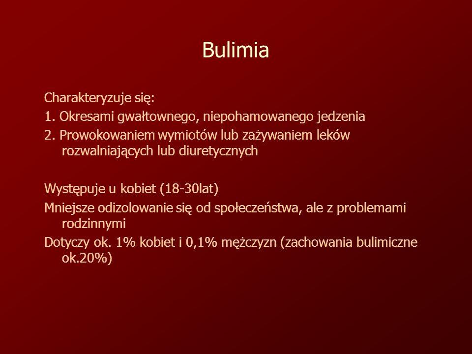 Bulimia Charakteryzuje się: