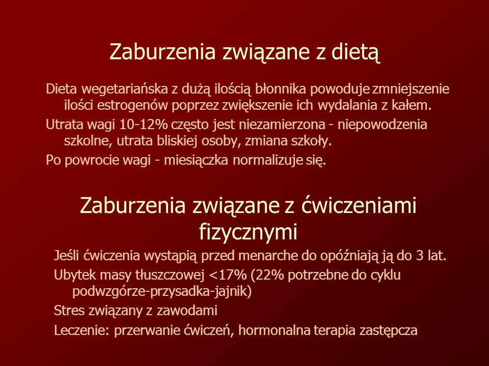 Zaburzenia związane z dietą