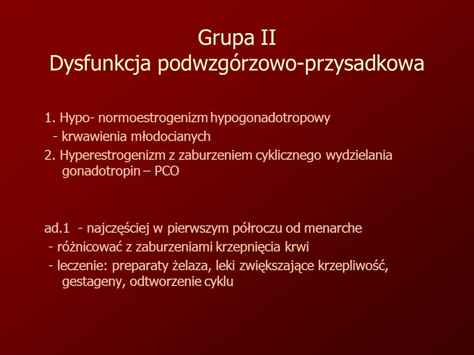 Grupa II Dysfunkcja podwzgórzowo-przysadkowa