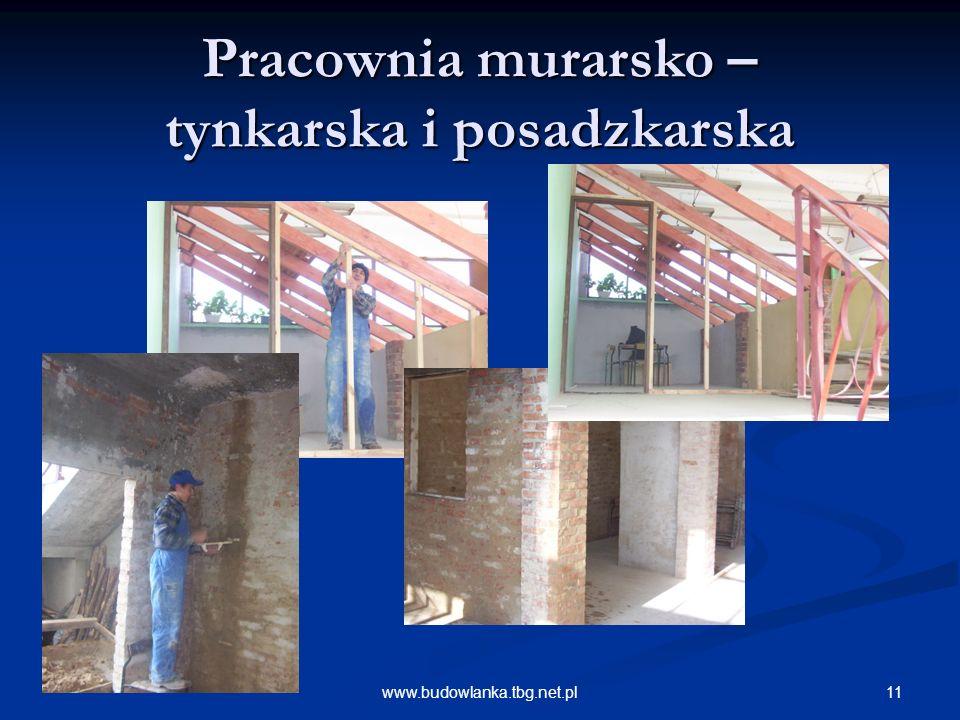 Pracownia murarsko – tynkarska i posadzkarska
