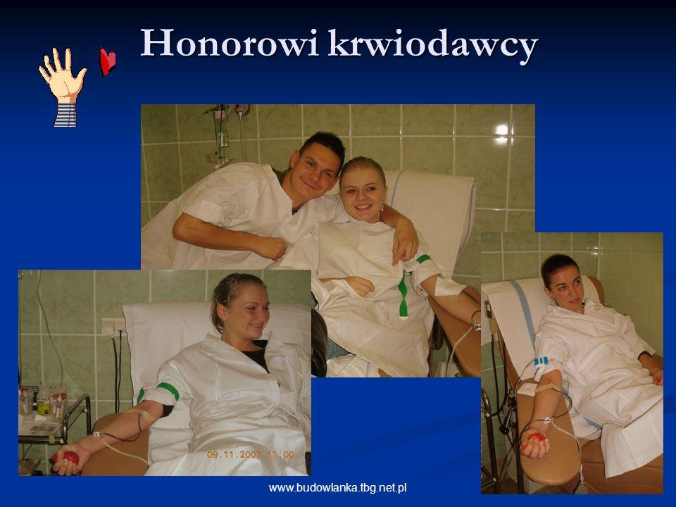 Honorowi krwiodawcy www.budowlanka.tbg.net.pl
