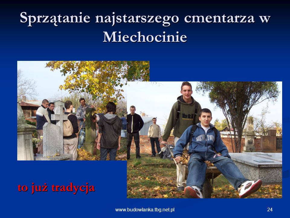 Sprzątanie najstarszego cmentarza w Miechocinie