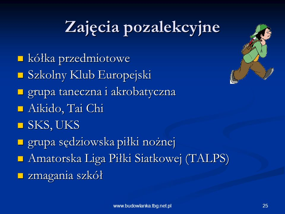 Zajęcia pozalekcyjne kółka przedmiotowe Szkolny Klub Europejski